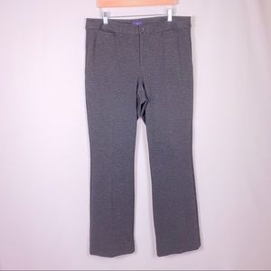 NYDJ Dark grey stretch knit trousers dress pants